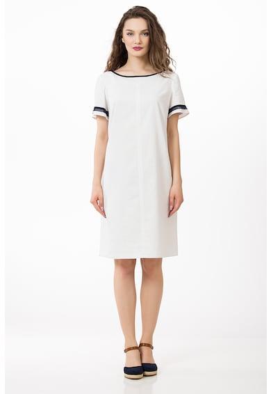 Sense Lentartalmú pólóruha kontrasztos nyakrésszel női
