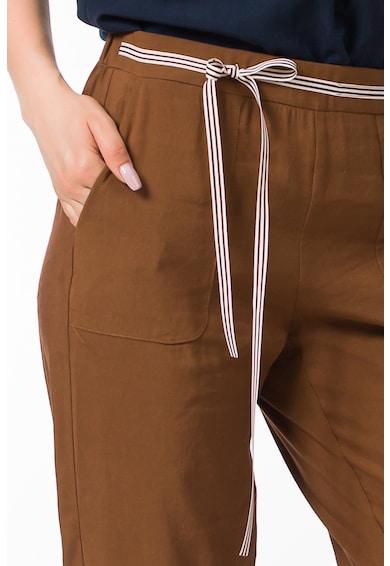 Sense Pantaloni conici din amestec de in cu buzunare laterale Femei