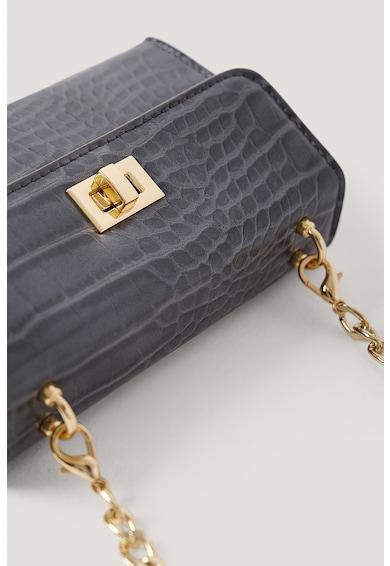 NA-KD Keresztpántos krokodilbőr hatású műbőr táska női