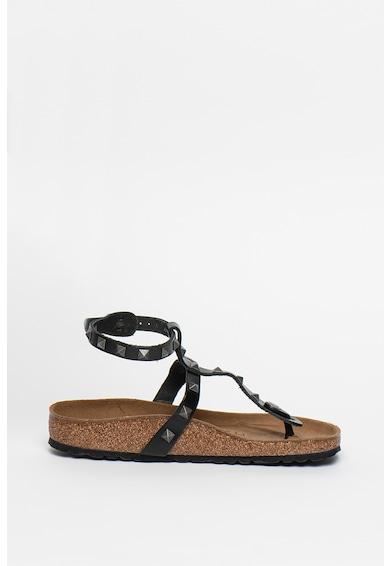 Birkenstock Sandale de piele cu bareta separatoare si tinte Marillia Femei