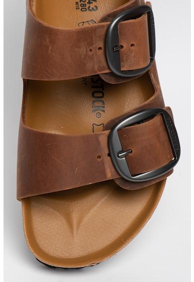 Birkenstock Papuci de piele nabuc cu catarame Arizona Barbati