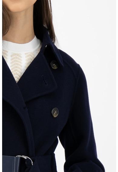 Sportmax Code Palton lung de lana virgina, cu un cordon in talie Femei