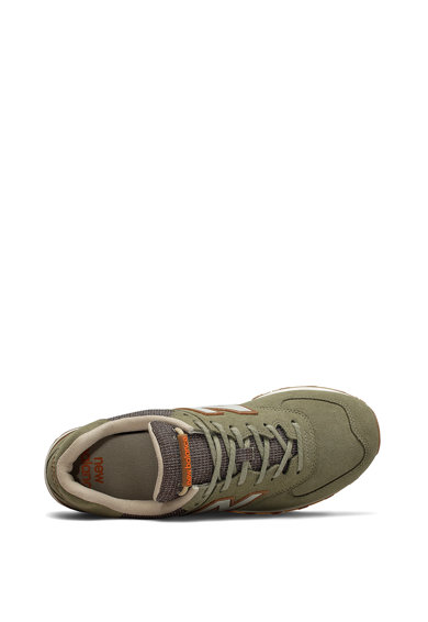 New Balance Pantofi sport din piele intoarsa cu insertii din plasa 574 Barbati