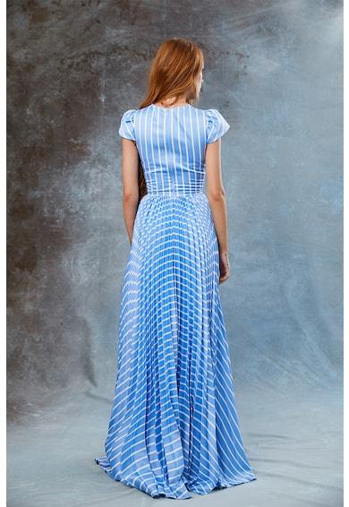 MIAU by Clara Rotescu Saian pliszírozott csíkos maxiruha női