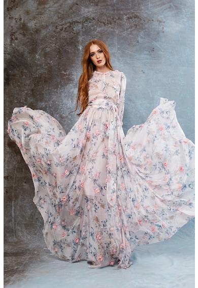 MIAU by Clara Rotescu Bellagio virágmintás selyemtartalmú maxiruha női