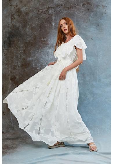 MIAU by Clara Rotescu Miriam bővülő fazonú virágmintás ruha női