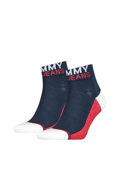 Tommy Hilfiger Set de sosete unisex cu model colorblock - 2 perechi Femei