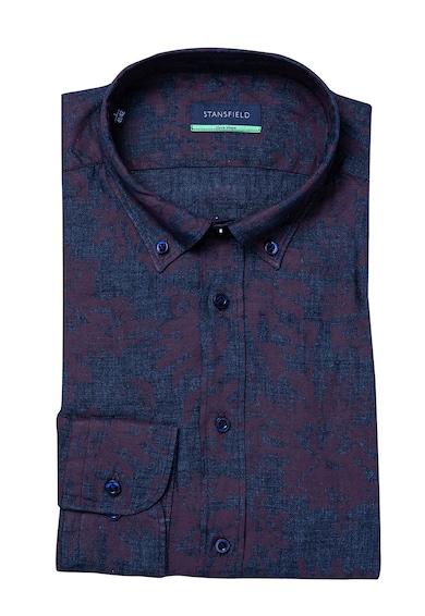 Stansfield Szűk fazonú lenvászon ing legombolható gallérral férfi