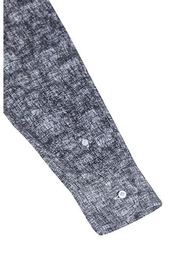Stansfield Kényelmes fazonú mintás lenvászon ing férfi