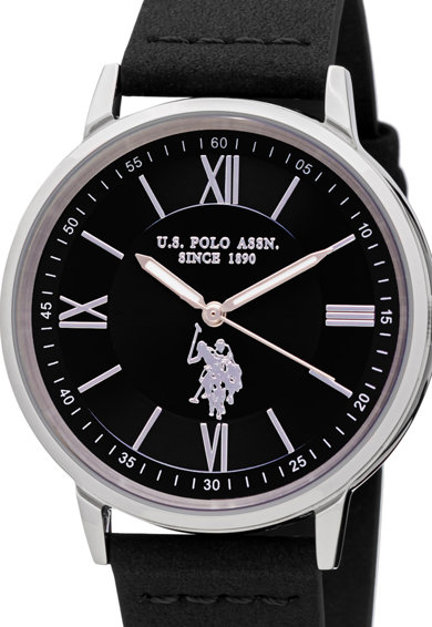 U.S. Polo Assn. Bőrszíjas analóg karóra férfi