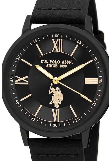 U.S. Polo Assn. Ceas analog cu o curea de piele Barbati