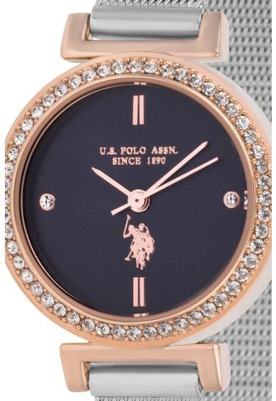 U.S. Polo Assn. Ceas rotund decorat cu cristale Femei