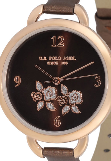 U.S. Polo Assn. Ceas cu o curea stralucitoare Femei