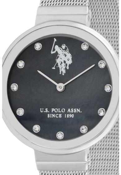U.S. Polo Assn. Ceas din otel inoxidabil cu bratara cu model plasa Femei