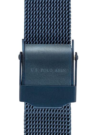 U.S. Polo Assn. Ceas din otel inoxidabil decorat cu cristale Femei