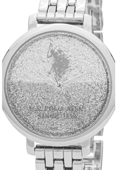 U.S. Polo Assn. Ceas quartz cu cadran stralucitor Femei