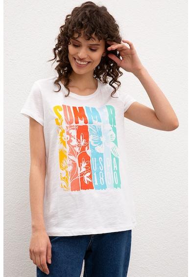 U.S. Polo Assn. Десенирана памучна тениска Жени