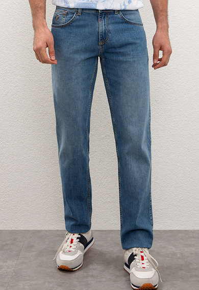 U.S. Polo Assn. Прави дънки със захабен ефект Мъже