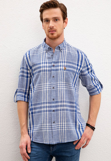 U.S. Polo Assn. Риза със стандартна кройка и лиосел Мъже
