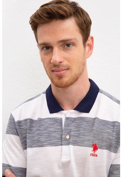 U.S. Polo Assn. Tricou polo slim fit cu model in dungi Barbati