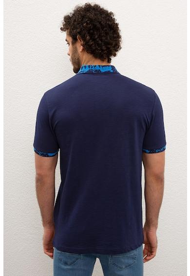 U.S. Polo Assn. Тениска с яка и контрастни детайли Мъже