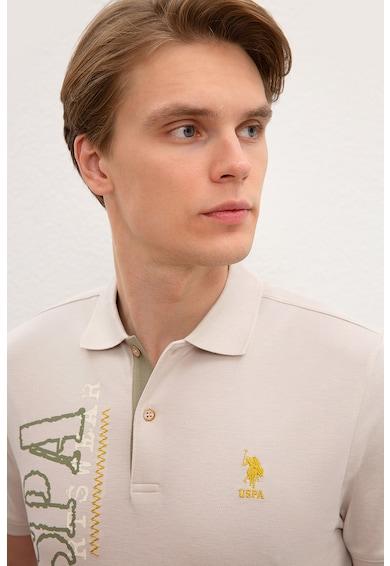 U.S. Polo Assn. Тениска с яка и уголемено лого Мъже