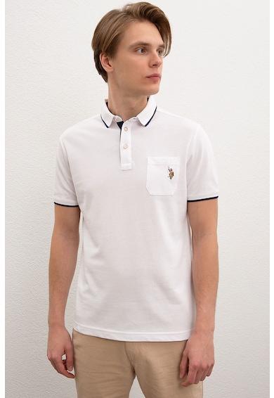 U.S. Polo Assn. Тениска със стандартна кройка и яка Мъже