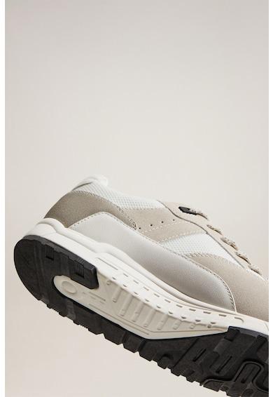 Mango Pantofi sport de piele si material textil Runsoft Barbati