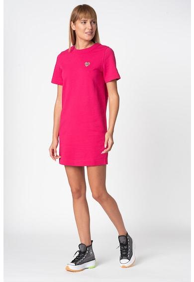 Love Moschino Къса рокля тип тениска с метално лого Жени