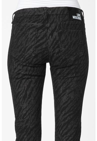 Love Moschino Прилепнали дънки със зеброва шарка Жени