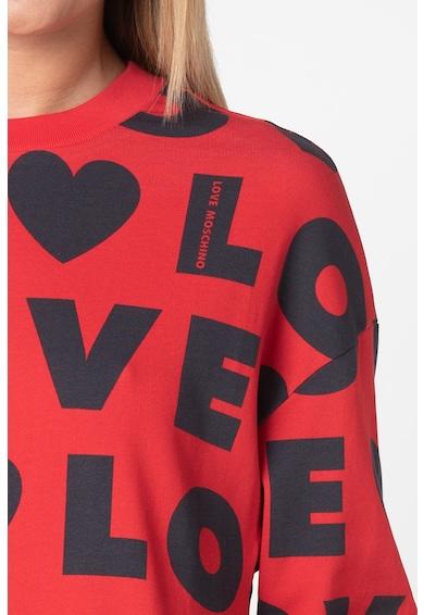 Love Moschino Рокля с лого Жени
