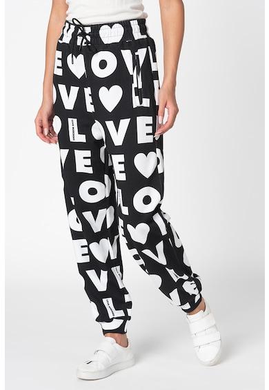Love Moschino Pantaloni conici cu imprimeu logo Femei