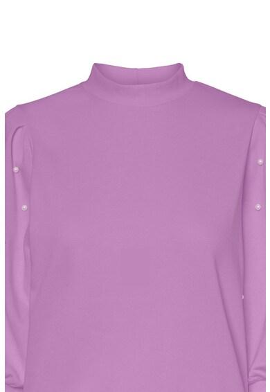 Vero Moda Pulover din amestec de bumbac cu aplicatii de perle sintetice Femei