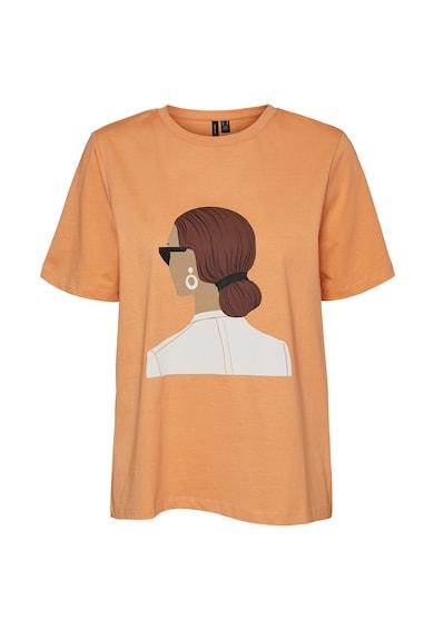 Vero Moda Tricou de bumbac organic, cu imprimeu grafic Femei