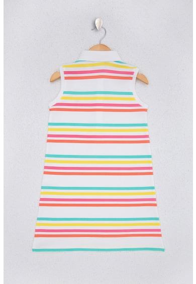 U.S. Polo Assn. Раирана рокля с бродерии Момичета