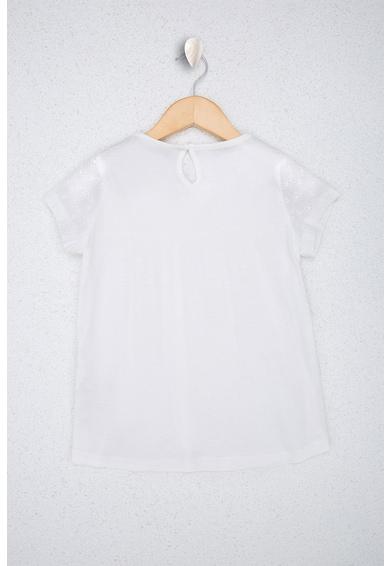 U.S. Polo Assn. Блуза с къси ръкави и бродерии Момичета