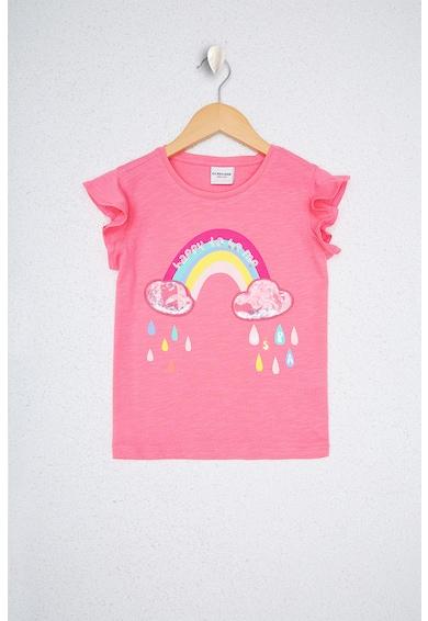 U.S. Polo Assn. Десенирана тениска с надиплени ръкави Момичета