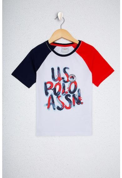 U.S. Polo Assn. Тениска с ръкави тип реглан и лого Момчета