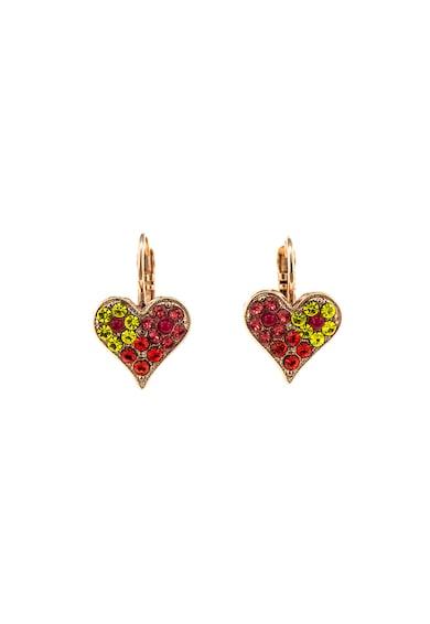 Roxannes - Mariana Jewellery Cercei in forma de inima, placati cu aur rose de 24K Femei