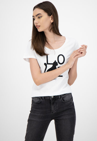 Liu Jo Тениска с декоративни камъни Жени