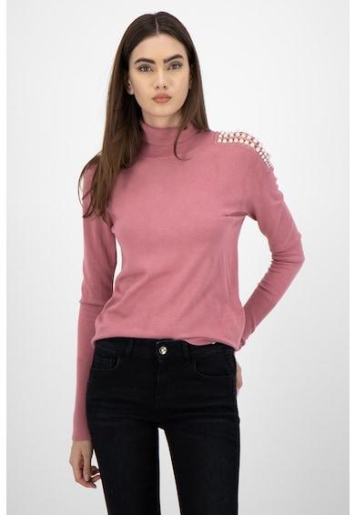 Liu Jo Пуловер с поло и синтетични перли Жени