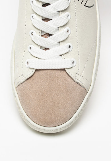 Blauer Kendall bőr sneaker nyersbőr és szőrös bőr részletekkel női
