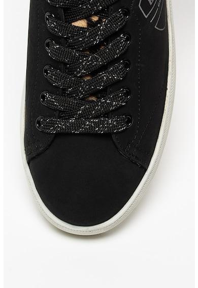 Blauer Kendall bőr sneaker szőrös bőr részletekkel női