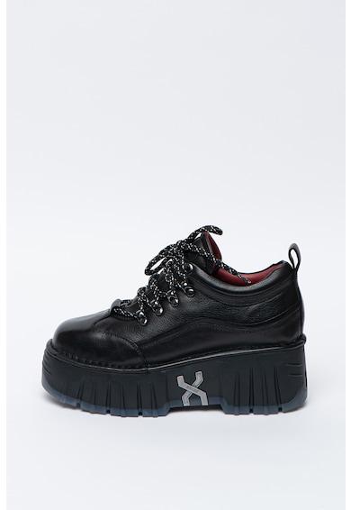 Bronx Pantofi wedge de piele Moon-Walkk Femei