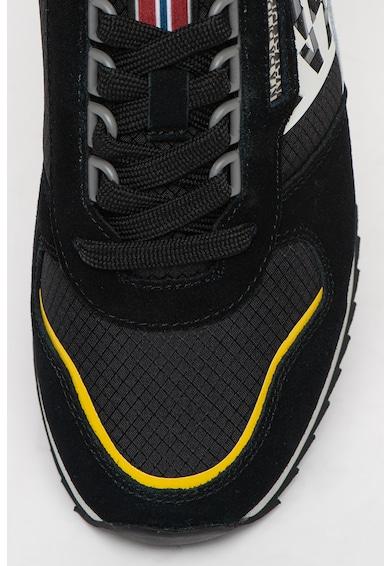 Napapijri Pantofi sport de piele intoarsa si material textil Lea Femei