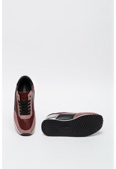 Napapijri Pantofi sport din piele ecologica cu insertii din piele intoarsa Hazel Femei