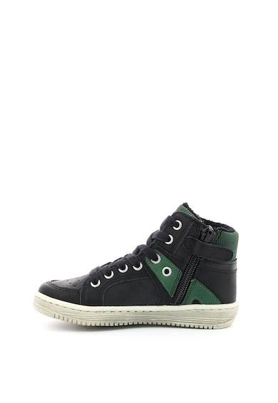 Kickers kids Pantofi sport inalti din piele ecologica cu captuseala din blana shearling sintetica Baieti