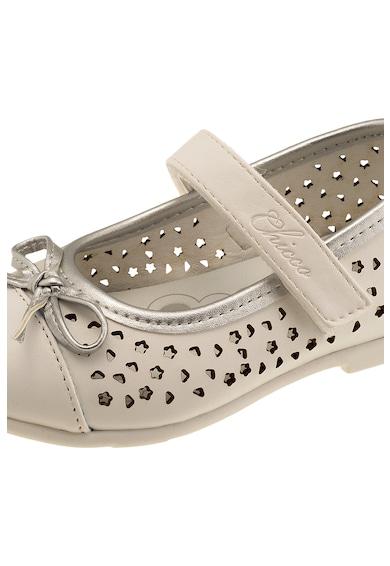 Chicco Pantofi Mary Jane de piele ecologica cu detalii perforate Fete