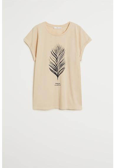 Mango Tricou din amestec de bumbac organic, cu imprimeu Pspalms Femei