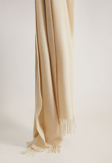 Mango Esarfa din amestec de lana cu margine franjurata Lovy Femei